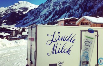 Morning milk deliveries in Lech am Arlberg
